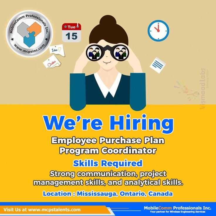 Employee Purchase Plan Program Coordinator Job