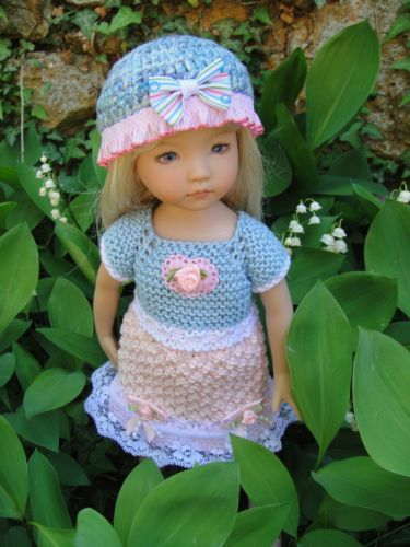 Handknitted Outfit for Little Darling Doll 13 inches Dianna Effner New | eBay. Ends 5/11/14. From France.