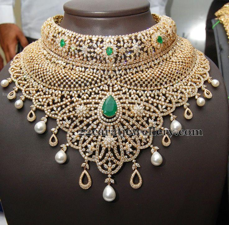 Jewellery Designs: Kirtilals Large Diamond Necklace