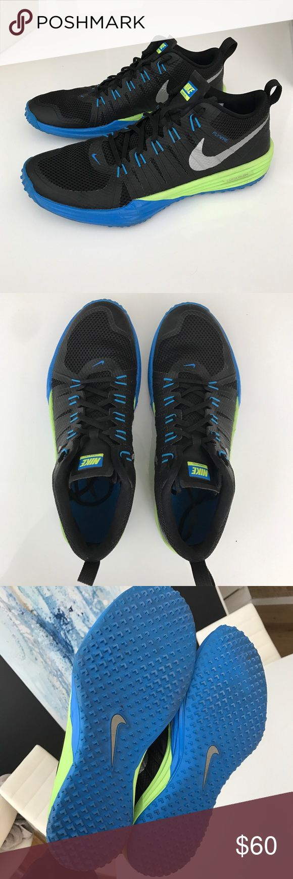Nike Lunar TR1 (Black/Blue/Volt) Seldom worn for they're a half size too big for me. Nike Shoes Sneakers