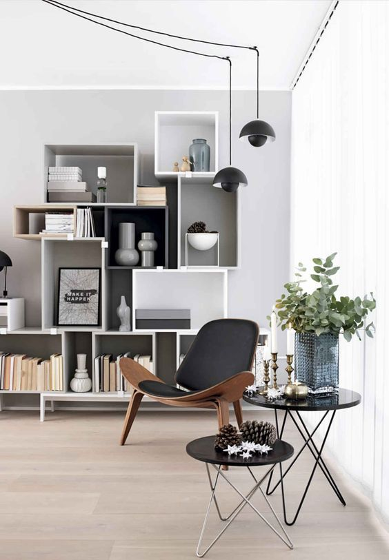 Bookshelves aren't just for books. Use them to display decor items and make an impact to your room.