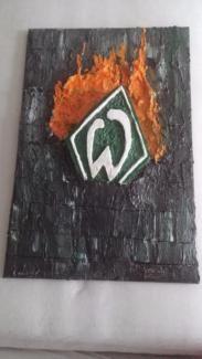 SV Werder Bremen Leinwand Wandtattoo Handmade Fanartikel in Bayern - Niederwerrn   eBay Kleinanzeigen