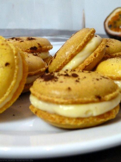 Macarons mit Maracuja-Passionsfrucht-Füllung | Macarons, bunt und lecker