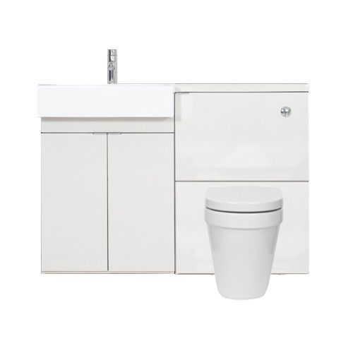 MyPlan furniture set for polymarble basin and top - Gloss White