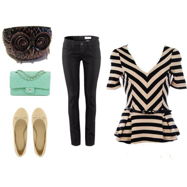 """Chevron/Peplum Outfit"" by penlaneclothing on Polyvore"