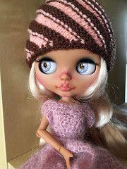(Missesined) Tagy: Blythe panenky zakázku OOAK holka roztomilý paruka oči outfit azon čistý neemo ohnutí opálení kůže pletené pletení