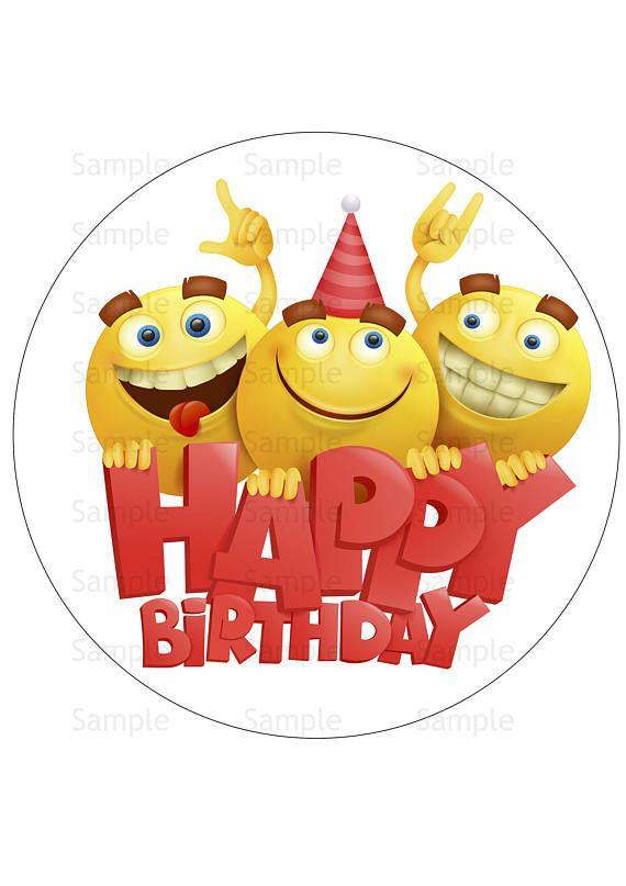 Emoji Edible Image Icing Sheet Emoji Birthday Cake Topper