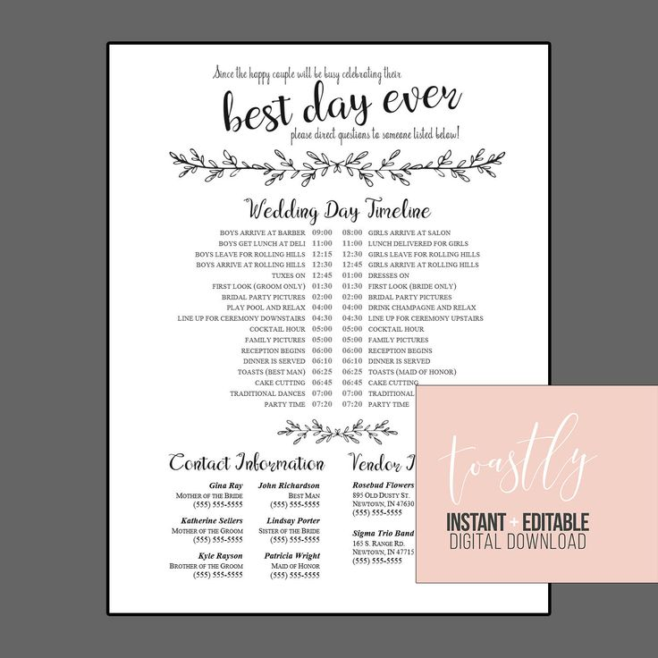 Wedding party list template northurthwall wedding party list template junglespirit Image collections