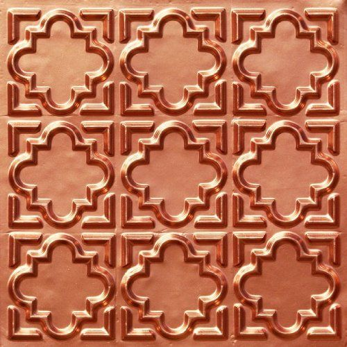 "Cheap Decorative Plastic Ceiling Tile #142 Copper Ul Rated Can Be Glue on Any Flat Surfase,glue On,nail On,tape On,staple On,tape On! by faux copper,faux tin tile,decorative tile,remodeling. $8.99. Ceiling Tile Complements our decorative ceiling tiles,put in frame as a picture!Remodeling,Renovation!Ceiling materials.. Faux Ceiling tiles Instantly transform the look of your home,green,eco-friendly,recyclable.. Faux Copper decorative plastic ceiling tiles 24""x24"" P..."