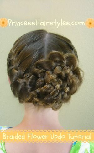 braided rose hair tutorial - Jilly for baptism