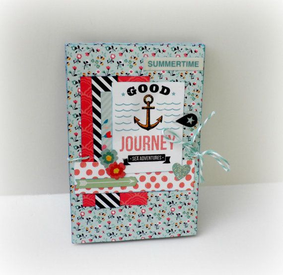 Photo mini album Premade pages Scrapbook photo by sweetpaperlife