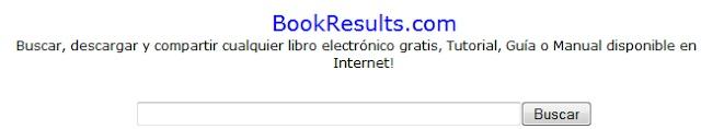 BookResults. Buscador de libros gratuitos para descargar.
