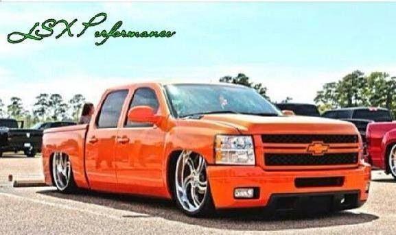 Orange dropped truck