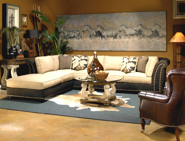 safari style african living room