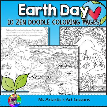 Earth Day Coloring Pages, Zen Doodles | Earth day coloring ...