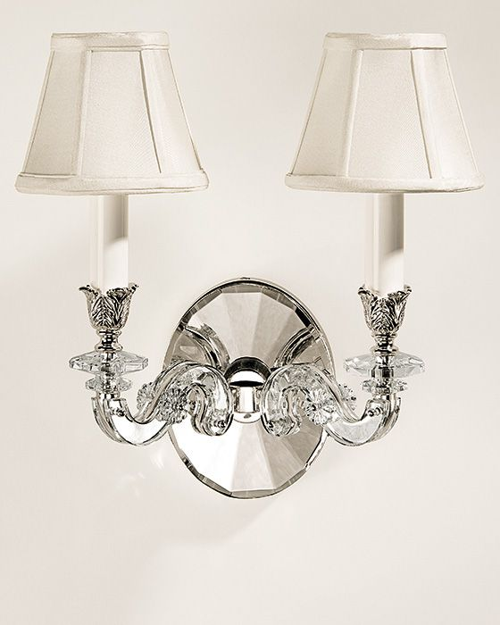 crystal sconces - silver-plated crystal sconce