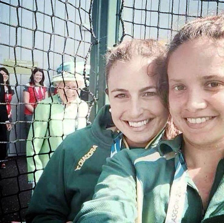 Right royal photobomb: Queen pranks athletes' selfie