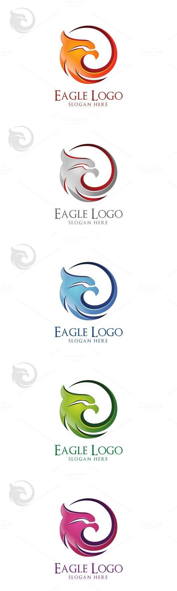 Eagle logo in circle, hawk , phoenix. Sport Icons. $21.00