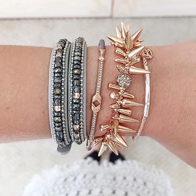 Looking for some #MondayMotivation? Look good while doing good. Join us in supporting #BreastCancerAwareness and shop for a cause! Shop gorgeous styles like the Bisous Wishing Bracelet & Resilience Cuff.