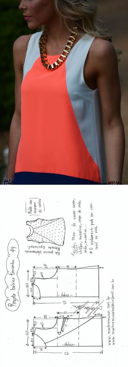 531 best costura images on Pinterest | Blouses, Sewing patterns and ...