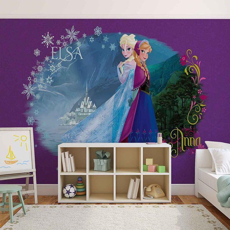 Frozen Kinderzimmer Disney Frozen Eiskonigin Elsa Anna Wallsticker Warehouse Fototapete Tapete Fotomur Kinder Zimmer Lila Kinderzimmer Kinderzimmer
