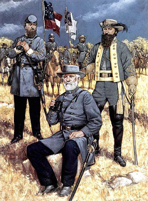 • Lieutenat-General Thomas J. Jackson  • General Robert E. Lee  • Major-General J. E. B. Stuart