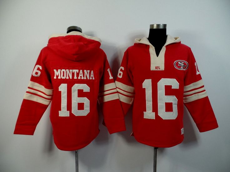 Men's Nike NFL San Francisco 49ers #16 Joe Montana 2015 New Hoodie Red http://www.wholesalejerseyclearance.com/san-francisco-49ers_gc130_1_15.html