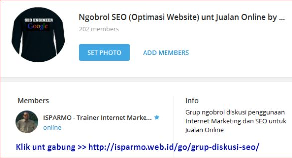 Belajar SEO Internet Marketing melalui Online