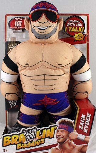 ZACK RYDER - WWE BRAWLIN BUDDIES TOY WRESTLING ACTION FIGURE by MATTEL. $38.99. Over 10 sounds & phrases!. Figure is 15 inches tall!. Brawl with your favorite WWE Superstars!. Real Superstar voices!. ZACK RYDER - WWE BRAWLIN BUDDIES TOY WRESTLING ACTION FIGURE