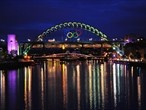 London Summer Olympics 2012 - Giant Olympic Rings revealed in Newcastle and Gateshead - GO CANADA!  BELIEVE!