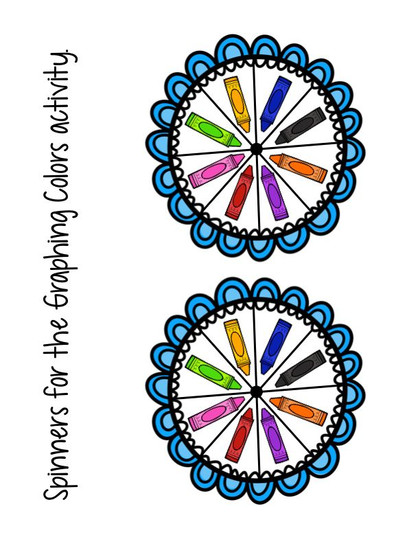 """FREE Spinners for the book """"The Day the Crayons Quit"""""""