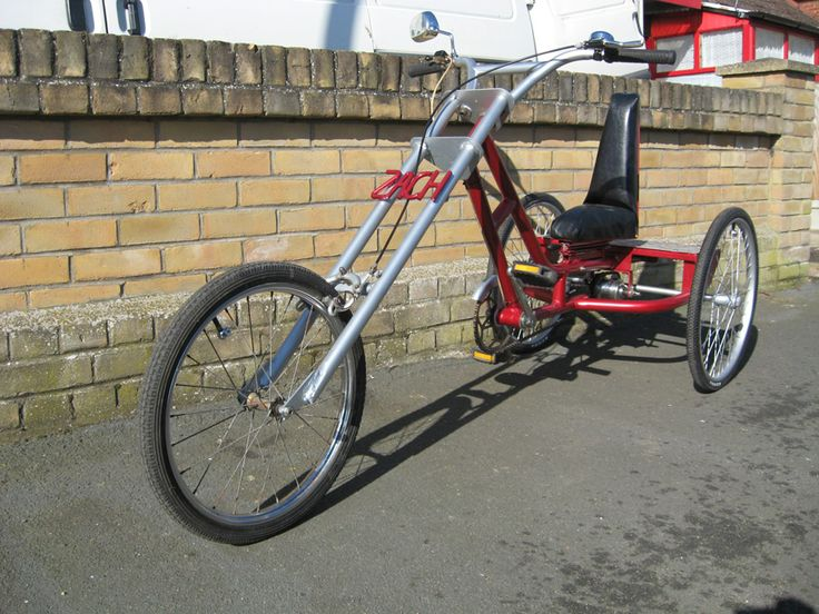 chopper bicycles   AtomicZombie Bikes, Recumbents, Trikes, Choppers, Ebikes, Velomobiles ...