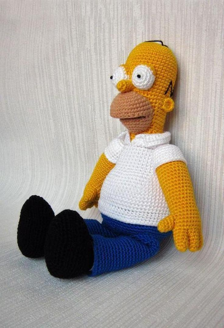 Homer Simpson Crochet Figure | Craftsy