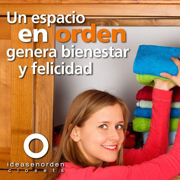 El orden significa bienestar para tu familia. #IdeasenOrden #closets #puertas #libreros #centrosdeTV