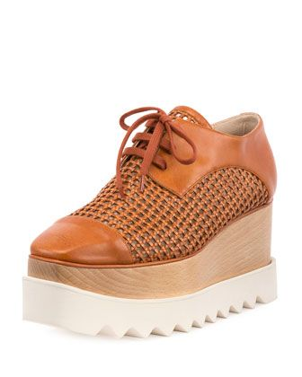 Stella McCartney 'Elyse' Woven Platform Oxford $1065, available here: rstyle.me/~7lW6g