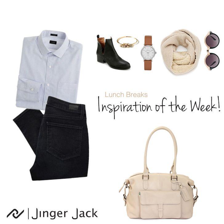 100% Leather Handbag  Inspiration of the Week with Jinger Jack's Tote in Cloud!  #NiceThingsOnEarth  #UniversalEleganceDESIGNEDinCapeTown #leatherhandbag #dailyfashion #ootd #theslouch #ivory #springfashion #jingerjack