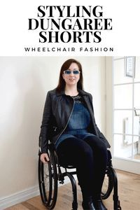 Wheelchair Fashion: Styling Dungaree Shorts Want to know how I style dungaree shorts as a wheelchair user? This post is perfect for wheelchair users & able bodied fashionistas alike.