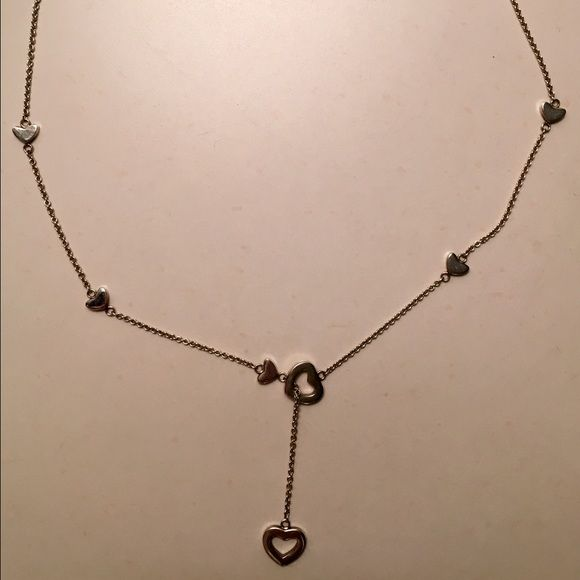 Tiffany heart necklace authentic Tiffany heart necklace with small hearts. Mint condition - like new. Tiffany & Co. Jewelry Necklaces