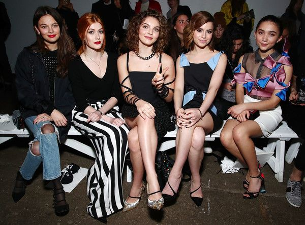 Rowan Blanchard Photos Photos - (L-R) Actresses Esther Kim, Katherine McNamara, Camren Bicondova, Sami Gayle and Rowan Blanchard attend Milly - Front Row - February 2017 - New York Fashion Week on February 10, 2017 in New York City. - Milly - Front Row - February 2017 - New York Fashion Week