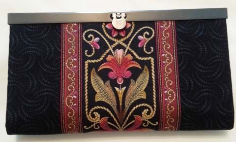 lovely bag made from quilting cottons with embroidery