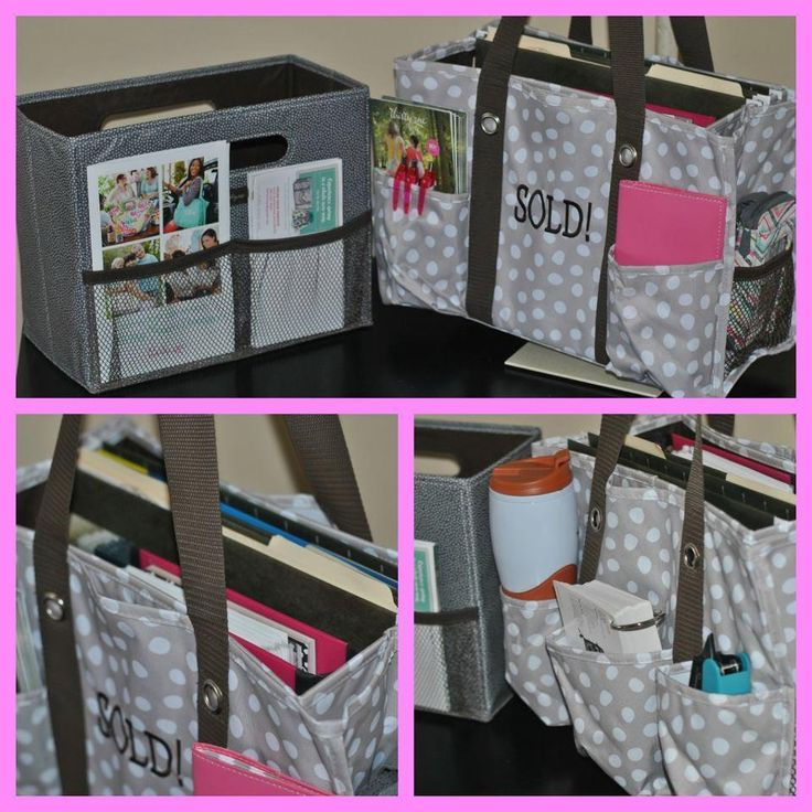 """For the Real Estate Agent or any other """"office on the go"""" situation.  Our Organizing Utility Tote is always a cute, but functional choice!"""