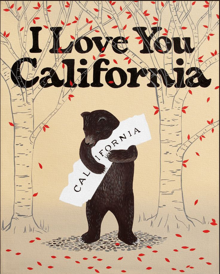 20 different adorable art prints by 3 Fish Studios of a Bear hugging California raises relief funds for fire victims of the Northern California Wildfires.