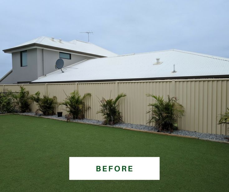 Our recent job - colorbond fence BEFORE respray.  See more: https://fencemakeovers.com.au