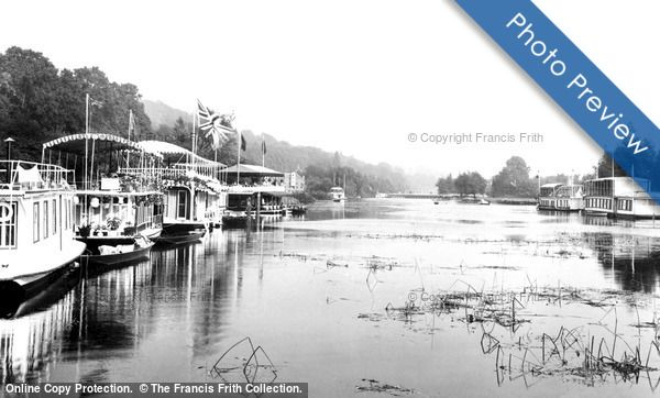 Photo of Photo of Henley On Thames, Houseboats, Solomons Hatch 1899