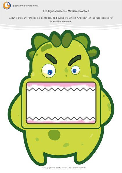 Graphisme MS Les lignes brisées : Les dents en zigzag du Croctout