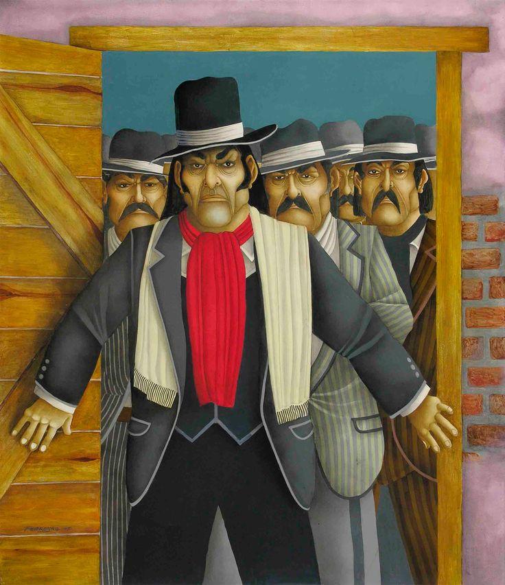 "Francisco Real ""El Corralero"" (2006) - Óleo s/tela 122 x 105"