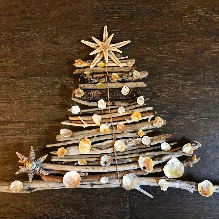 Seashells Home Decor Christmas Tree, starfish  Handmade by AmandinesArt