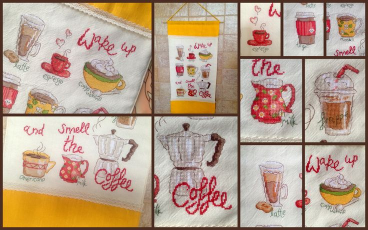 Time for Coffee! Cross stitching