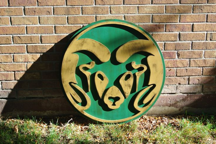 CSU Rams logo, Distressed, Weathered, College football, Man Cave, Sports Bar, Ft. Collins, Colorado, Cam the Ram, custom, birthday gift by CraigMoodieDesigns on Etsy
