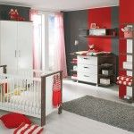 Red and Gray Nursery Decor